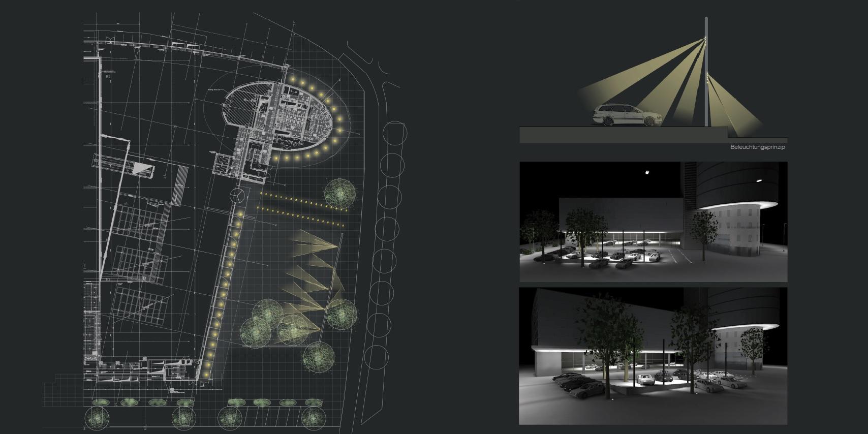 notholt lighting design mercedes benz arnulfstr lichtkonzepte und lichtdesign vom erfahrenen. Black Bedroom Furniture Sets. Home Design Ideas